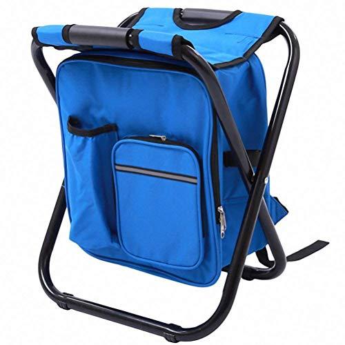 JiuRong Tabouret de Camping Pliant avec Sac de Pique-Nique Isotherme Plus Frais Chaise Pliable portative pour Barbecue de Plage