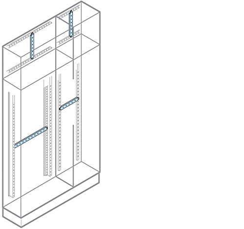 Abb-entrelec – dwarsbalken achter een = 200 mm klimhouder (2U)