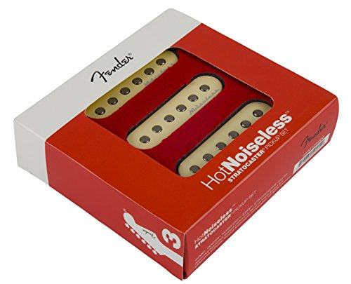 Fender Strat Hot Noiseless Pickups, Aged White, Set Of 3 Electric Guitar Part
