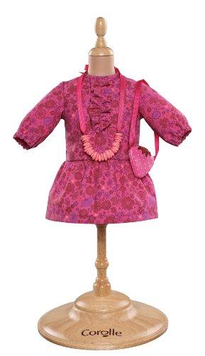 Corolle - Y7407 - Vêtement Poupée 36cm - Mademoiselle Corolle - Robe Fleur & Accessoire