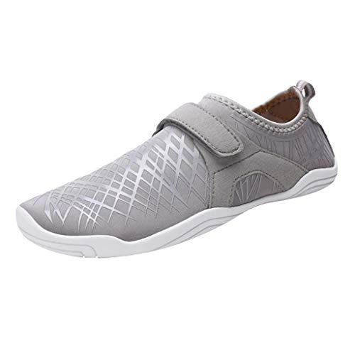 IPOTCH Zapatillas de Correr Cómodo y Suave para Surf, Yoga, Gimnasio, Zapatos Transpirables y Ligeros de Secado Rápido - Gris, 46
