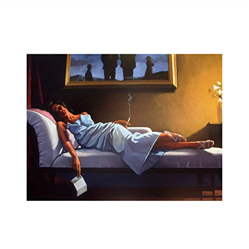 QIANLIYAN The Letter by Jack Vettriano Poster and Prints Painting Wall Pictures Artwork Decoration for Living Room -24X32 Inch No Frame