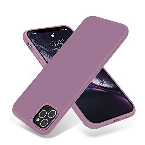 OTOFLY Compatible with iPhone 12 Pro Max Case 6.7 inch(2020),[Silky and Soft Touch Series] Premium Soft Liquid Silicone Rubber Full-Body Protective Bumper Case for iPhone 12 Pro Max (Lilac Purple)