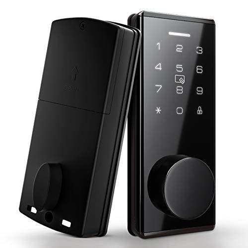 Digital Keypad Deadbolt Door Lock Smart Deadbolts for Front Door Work with APP, Code and eKey Auto Lock for Homes Hotels