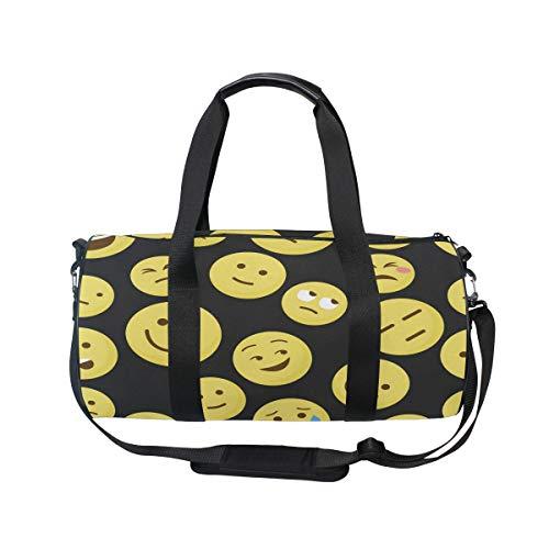 MNSRUU Reisetasche mit lustigem Emoji-Motiv, für unterwegs, Unisex, hohe Kapazität, großes Gepäck, Sporttasche