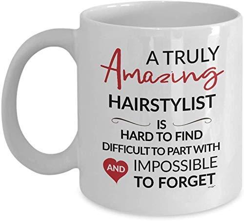 Friseur Kaffeetasse Lustige Geschenke Friseur Abschied gehen Abschied Neuer Job Auf Wiedersehen Ruhestand Wirklich Erstaunlich Hart Finden Unmöglich Vergessen Frauen Männer Mitarbeiter Cup