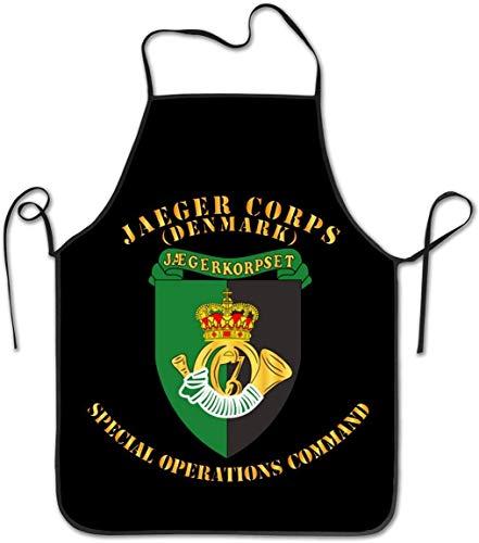 Delantal Delantales de Cocina Unisex Mujeres Hombres Camarera Chef Dinamarca Jaeger Corps Opciones Especiales Comando Chef Delantal Delantal de Cocina Delantales de Barbacoa