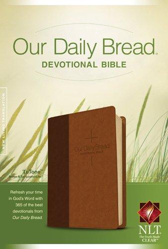 Our Daily Bread Devotional Bible NLT, TuTone (LeatherLike, Brown/Tan)