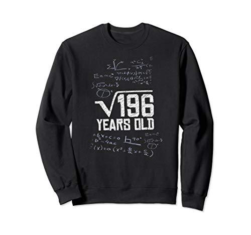 Square root 196 years old 14th Birthday Fun Math Meme Gift Sweatshirt