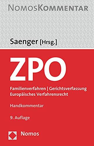 Zivilprozessordnung: Familienverfahren   Gerichtsverfassung   Europäisches Verfahrensrecht