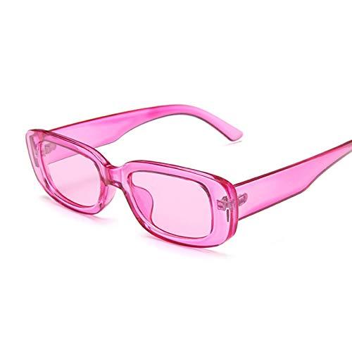 Gafas de Sol Gafas De Sol Cuadradas De Viaje para Mujer Gafas De Sol Rectangulares Pequeñas Mujeres Vintage Retro De Soleil Morado