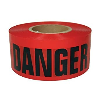RK High-Visibility Safety Barricade Tape  1 Box  8 ROLL  3  x 1000ft Danger Tape