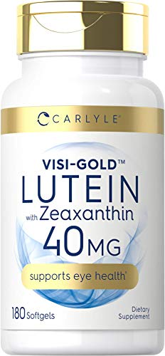 Lutein and Zeaxanthin 40 mg |180 Softgels | Eye Health Vitamins | Non-GMO & Gluten Free Supplement | by Carlyle