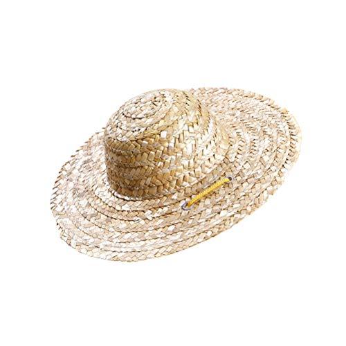 Balacoo Cappello Sombrero Cane Mini Paglia Cappello Costume Hawaiano Stile Cappellino Messicano per Cuccioli Gatto