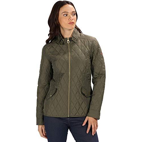 Preisvergleich Produktbild Regatta Cressida gesteppte,  wasserabweisende,  isolierte Jacke für Damen 44 Traubenblatt