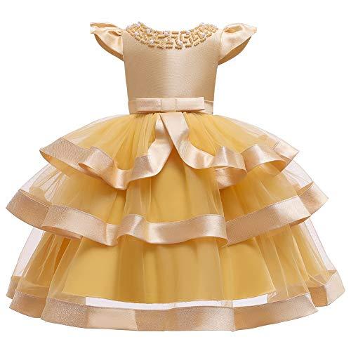 JTSYUXN Festliche Kinderkleider Baby MädchenKleider Blumenmädchen Kleid Lace Tutu...