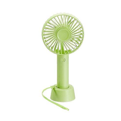 JZUKU Ventilador de Mano Pequeño Ventilador Silencioso Ventilador Recargable Portátil De Mano (Color : Green)