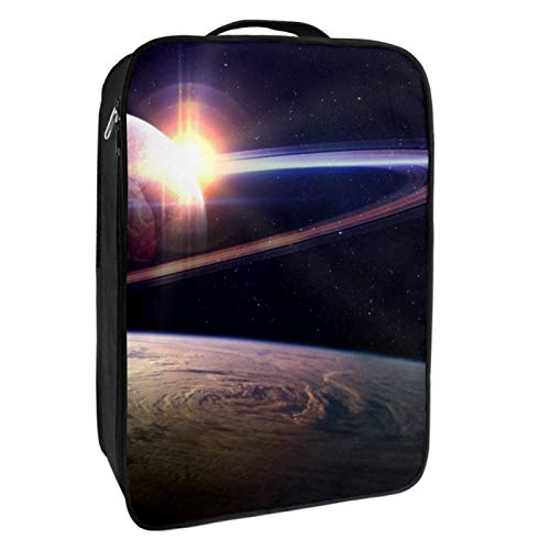 Caja de almacenamiento para zapatos de viaje y uso diario Sunrise in Space Zapatero organizador portátil impermeable hasta 12 yardas con doble cremallera y 4 bolsillos