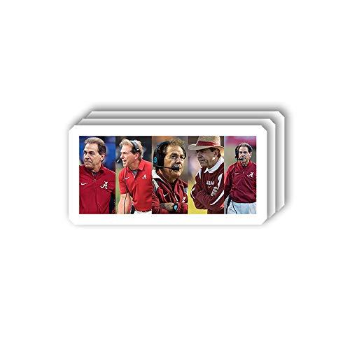 msgolbi 3 PCs Stickers Nick Saban Sticker for Laptop, Phone, Cars, Vinyl Funny Stickers Decal for Laptops, Fridge