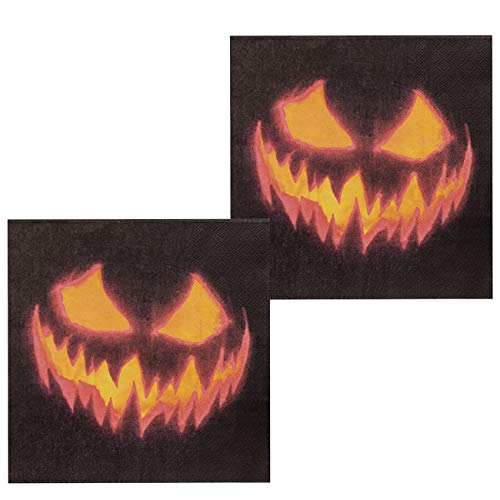 Boland- Tovaglioli di Carta Zucca Terrificante, Taglia Unica, 12 Pezzi, Multicolore, BOL72312