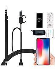 Magsbud 耳かき カメラ WiFi電子耳鏡 最新版iphone対応可能 耳掃除 130万画素 USB内視鏡 携帯とパソコン接続 720P ハイビジョンカメラ LEDライト 明るさ調節 IOS Android Windows対応 専用WIFI発信機付き