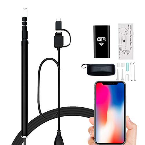 Magsbud 耳かき カメラ WiFi電子耳鏡 最新版iphone対応可能 耳掃除 130万画素 USB内視鏡 携帯とパソコン接...