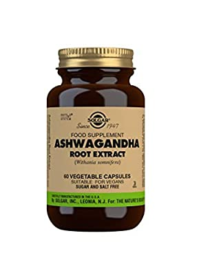 Solgar Ashwagandha Root Extract Vegetable Capsules, Pack of 60