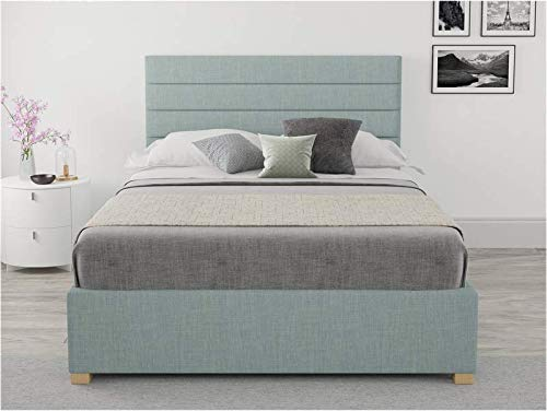 Brayden Studio Malham Weave Mraz Upholstered Ottoman Storage Bed - Small Double (4') (Sky Blue)