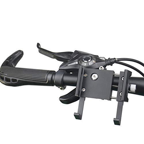Yucong Soporte Móvil Bicicleta, Soporte para Teléfono Ajustable de Bici de Aleación de Aluminio, Soporte Movil Moto - para 3-7 Inch Teléfono Móvil Inteligente(Black)