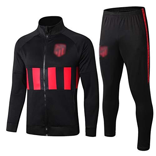 BVNGH Traje de Entrenamiento de Jersey de Fútbol Atlético de Fútbol, 2021 Temporada New Temporada Camisetas de fútbol de fútbol, Camiseta Transpirable y cómoda (S-XXL) Black-M