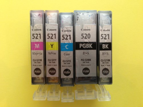Canon Original CLI-521 Tintenpatronen Multipack cyan, magenta ,gelb + CLI-521BK + PGI-520BK