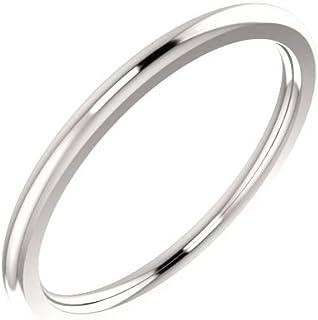 FB جواهر البلاتين 1.5 مم الراحة صالح الرجال خاتم الزفاف الفرقة الحجم 6