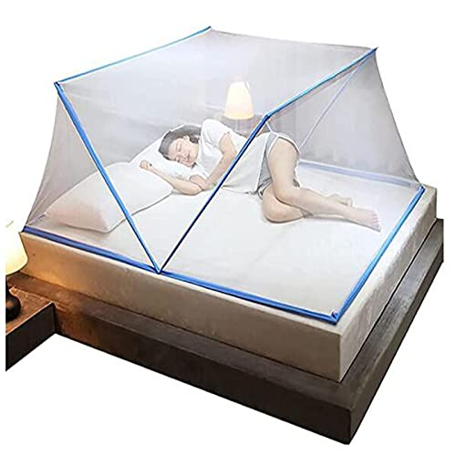 qazx Folding Mosquito Net Tent, Cover Pop up 360° Anti-Mosquito Tent Curtains for Children, for Children Bed/Floor/Camping Travel
