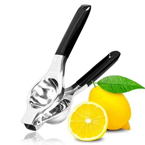 GuDoQi Exprimidor Limón Manual de Acero Inoxidable con Mangos de Silicona, Alta Resistencia, Protección contra la Corrosión, Apto para Lavavajillas