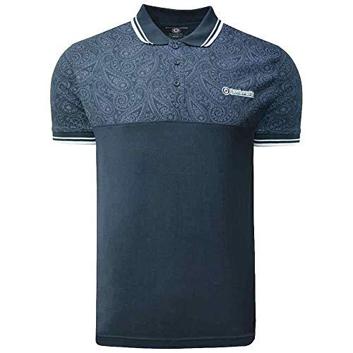 Lambretta Paisley-Polo-Shirts für Herren, Baumwolle, Sommer-Oberteil, Größen S-4XL Gr. M, Marineblau