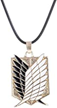 سلسلة قلادة ZCHIKO Anime Attack on Titan Cartoon projects Corps Logo Wings of Liberty Pendant - ذهبي