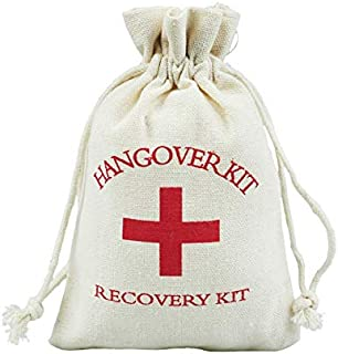 SMHILY 50Pcs Resaca Kit 10X14Cm Favor del Favor de la Boda Bolsa de algodón de Lino de la Cruz Roja Bolsas de Regalo Recuperación Supervivencia Kit Evento Fiesta Proveedor