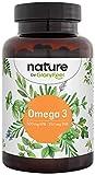 capsule di omega 3 olio di pesce 1000mg - 500 mg epa e 250 mg dha per cuore e cervello sani* - acidi grassi essenziali omega 3 - acciughe da allevamento biologico - testato e prodotto in germania