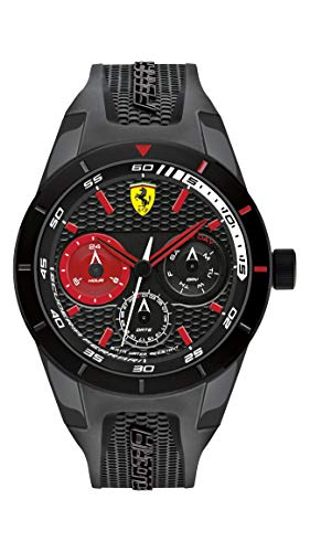 Scuderia Ferrari 830439 Herenhorloge, kwarts, met armband van siliconen