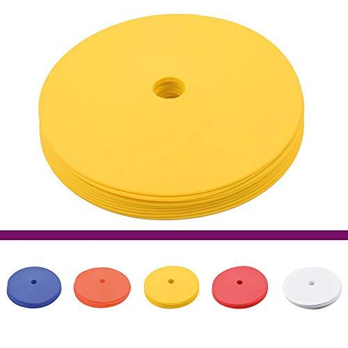 Cawila Floormarker, Markierungsscheiben inkl. Tasche, (gelb)