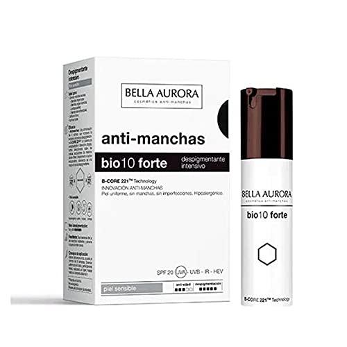 Crema Despigmentante Bella Aurora Bio10 Forte Piel Sensible (30 ml) | Cuidado de tu piel | Cremas antiarrugas, exfoliantes, antiedad, corporales