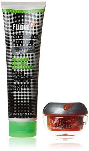 Fudge Nettoie et forme Cool Mint Shampooing 300 ml/Cheveux Shaper 75 g Ensemble cadeau