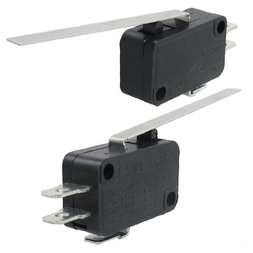 Interruptor - SODIAL(R) Interruptor micro momentaneo NC NO basic o de 3 pines de palanca de bisagra recta larga 2 piezas
