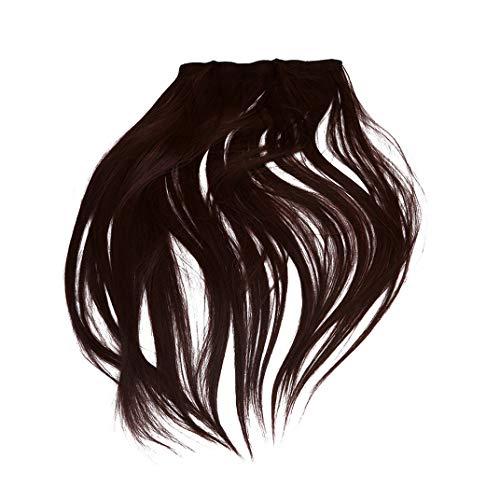 DYSCN 60Cm 5 Clips Cheveux Raides Pièce Une Pièce Perruque Pièce Sans Couture Extension de Cheveux Pièce Synthétique Pince À Cheveux, Brun Foncé