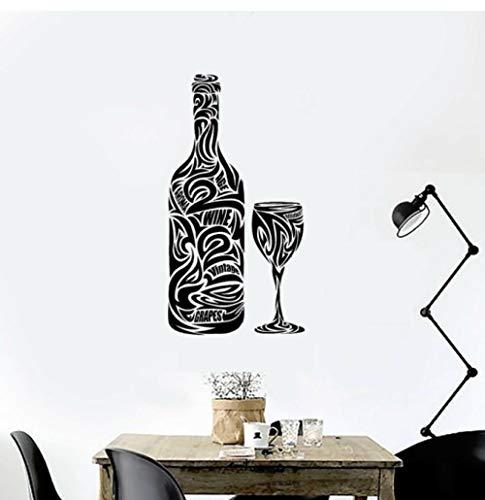 Cartel de bar, calcomanía de vinilo para pared, botella de cerveza, pegatina para ventana, calcomanía de vinilo, botella de vino, Bar, restaurante, bebida, cocina, pared Muralr 81x42cm