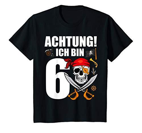 Kinder 6 Jahre alt Geburtstag Junge Totenkopf Pirat Party Geschenk T-Shirt