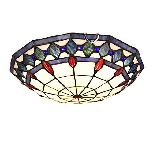 Lámpara de Techo Tiffany, Pasillo Plafón LED Vidrio