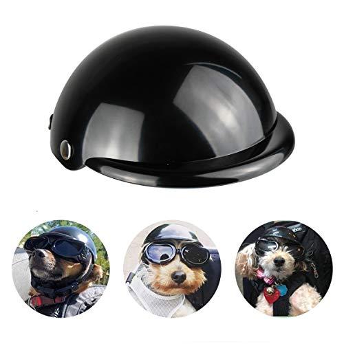 Enjoying Pet Helmet - Motorcycle Dog Helmet Bike Cat Hat Riding Doggie Cap Black, Small
