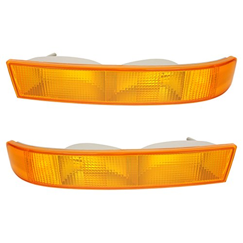 Parking Light Turn Signal Directional Lamp Pair Set Kit for 03-13 Chevy GMC Van