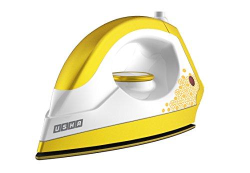 Usha EI 3302 Gold 1100-Watt Lightweight Dry Iron (Sulphur Yellow)